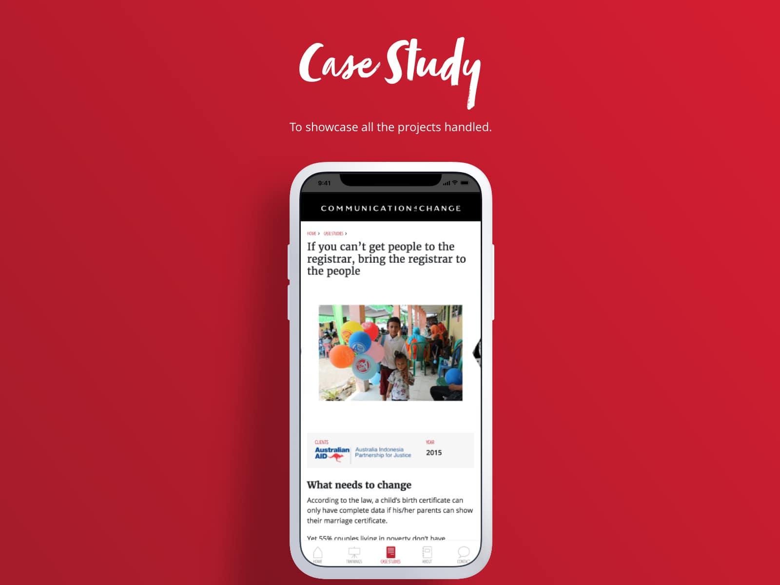 <p>Case Study</p>